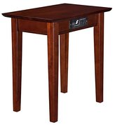 Atlantic Furniture Anderson Chair Side End Table in Walnut