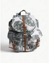 Herschel Dawson leaf print canvas backpack extra small