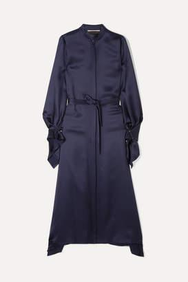 Roland Mouret Alleyne Satin Dress - Navy