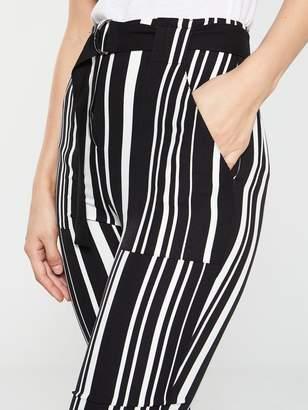 Very Belt Detail Striped Trouser