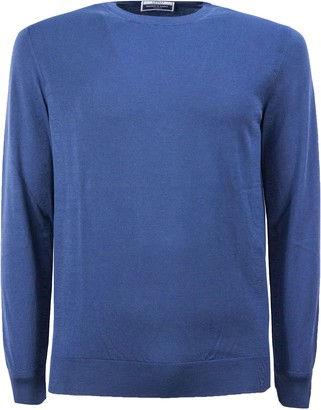 Fedeli Light Blue Cotton Sweater