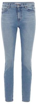HUGO BOSS Slim-fit jeans in vintage-blue comfort-stretch denim