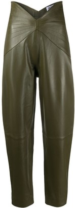 The Attico High-Waisted Leather Trousers