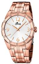Lotus Women's Quartz Watch with Silver Dial Analogue Display and Stainless Steel Rose Gold Plated Bracelet 15986/1