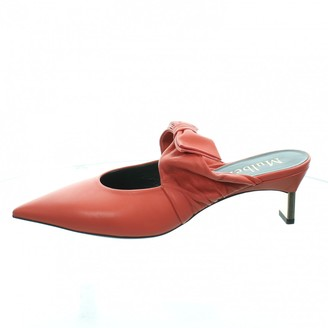 Mulberry Pink Leather Mules & Clogs