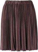 Gig knit pleated skirt