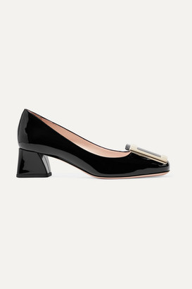 Roger Vivier Belle De Jour Patent-leather Pumps - Black