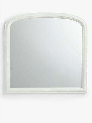 Croft Collection Overmantel Mirror, 90 x 92cm, FSC-Certified (Paulownia Wood), Cream