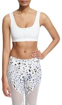Varley Beth Sports Bra W/Front Zip, White