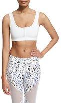 Varley Beth Sports Bra W/Front Zip, White