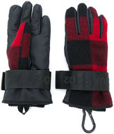 DSQUARED2 ski check gloves - women - Polyester/Wool - M