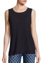 Current/Elliott Cotton Glitter Muscle Tee