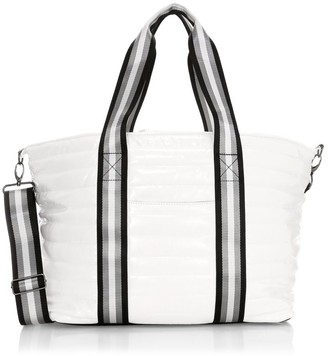 Think Royln Wingman Patent Quilted Tote