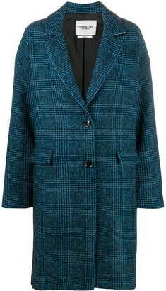 Essentiel Antwerp Prince of Wales single-breasted coat