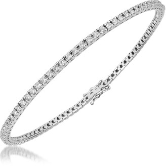 Forzieri 1.61 ctw White Diamond Eternity 18K Gold Tennis Bracelet