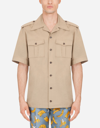 Dolce & Gabbana Short-Sleeved Shirt With Pin-Up Patch