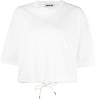 Ambush logo-embroidered cropped T-shirt
