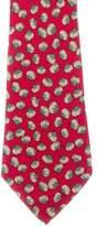 Hermes Tomato Print Silk Tie