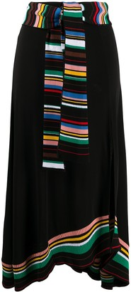 M Missoni Striped Details Knitted Skirt