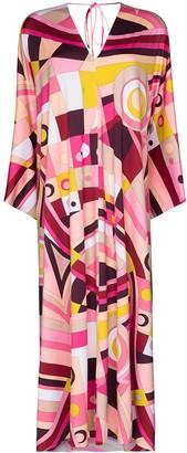 Emilio Pucci x Browns 50 geometric-print kaftan maxi dress