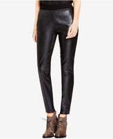 Vince Camuto TWO by Mixed-Media Faux-Leather Leggings