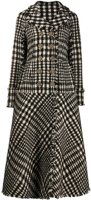 Ports 1961 double breasted check A-line coat