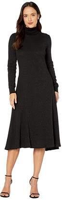 Lauren Ralph Lauren Petite High Neck Dress (Polo Black/Black) Women's Clothing