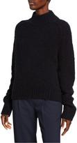 Vince Textured Saddle Sleeve Turtleneck Wool Sweater
