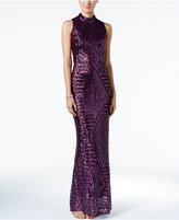 Vince Camuto Sequined Cutout Gown