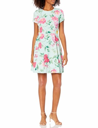 Jessica Howard JessicaHoward Women's Floral Fit and Flare with Cap Sleeves