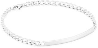 Miansai Rhodium Plated Sterling Silver ID Chain Bracelet