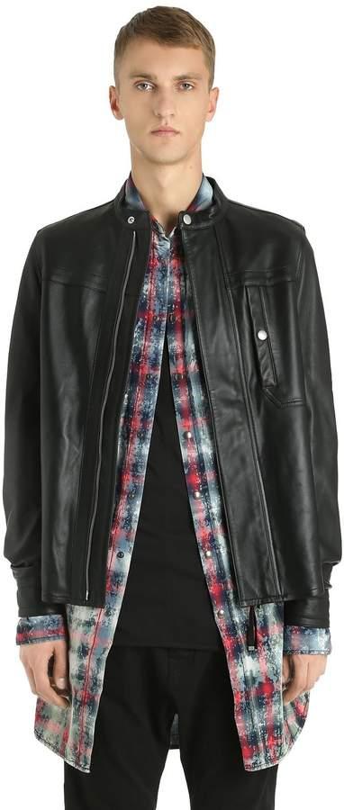 Diesel Black Gold Zip-Up Nappa Leather Jacket