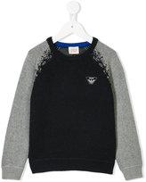 Armani Junior logo plaque knitted jumper