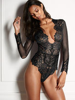 Dream Angels Wicked Long-sleeve Plunge Teddy