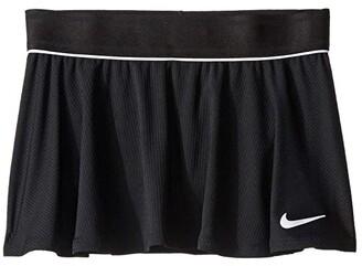 Nike Kids Court Dry Flouncy Skirt (Little Kids/Big Kids) (Black/Black/White/White) Girl's Skirt