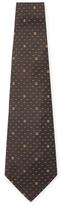 Chanel Vintage Brown CC Dot Silk Tie