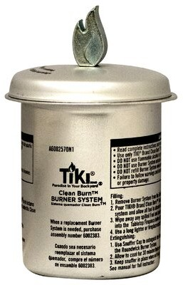 TIKI Brand Clean Burn Firepiece Roundwick Burner System Replacement for Small Table Torch TIKI Brand