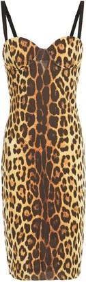 Moschino Leopard-print Crepe-jersey Dress