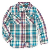 Tea Collection Toddler Boy's Beaufort Plaid Flannel Shirt