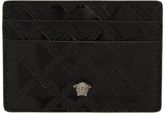 Versace Black Patent Medusa Card Holder