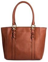 Women's Faux Leather Tote Handbag - Merona