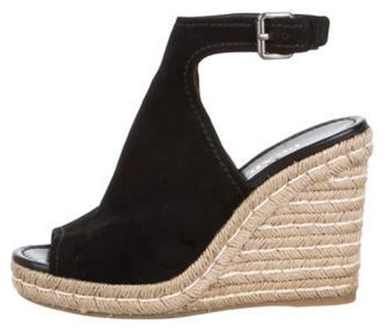 346e1f3cc1e Suede Espadrille Wedge Sandals Black Suede Espadrille Wedge Sandals