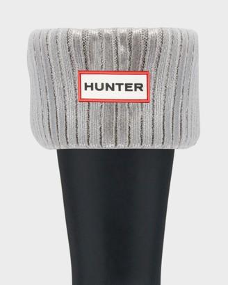 Hunter Ribbed Foiled Short Boot Socks