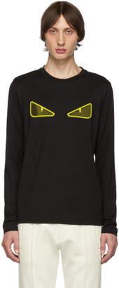 Fendi Black Mesh Bag Bugs Long Sleeve T-Shirt