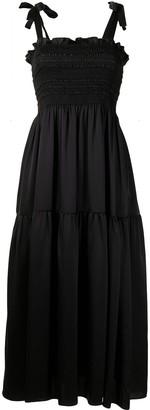 Cynthia Rowley Marina smocked silk dress