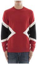 Neil Barrett Red Wool Sweatshirt