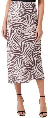 Forever New Carrie Satin Slip Skirt