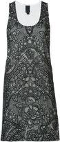 Vera Wang mini tank dress - women - Cotton/Silk/Nylon - 0