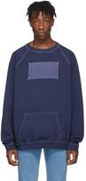 Maison Margiela Blue Memory Of Label Sweatshirt