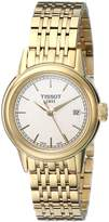 Tissot Women's T0852103302100 Carson Analog Display Swiss Quartz Gold Watch